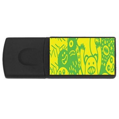 Easter Monster Sinister Happy Green Yellow Magic Rock Usb Flash Drive Rectangular (4 Gb) by Mariart