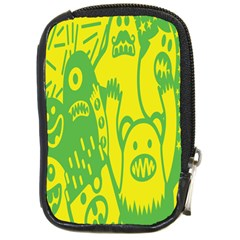 Easter Monster Sinister Happy Green Yellow Magic Rock Compact Camera Cases by Mariart