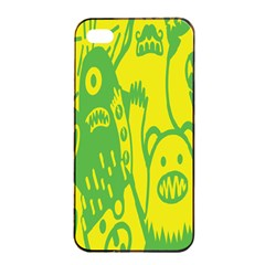 Easter Monster Sinister Happy Green Yellow Magic Rock Apple Iphone 4/4s Seamless Case (black) by Mariart