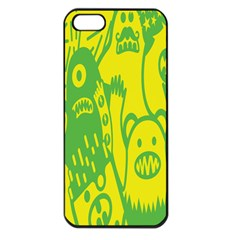 Easter Monster Sinister Happy Green Yellow Magic Rock Apple Iphone 5 Seamless Case (black) by Mariart