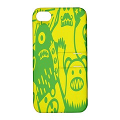 Easter Monster Sinister Happy Green Yellow Magic Rock Apple Iphone 4/4s Hardshell Case With Stand by Mariart