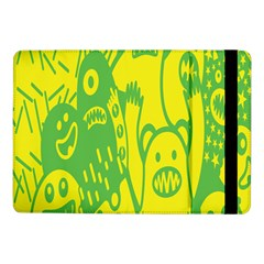 Easter Monster Sinister Happy Green Yellow Magic Rock Samsung Galaxy Tab Pro 10 1  Flip Case by Mariart