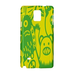 Easter Monster Sinister Happy Green Yellow Magic Rock Samsung Galaxy Note 4 Hardshell Case by Mariart