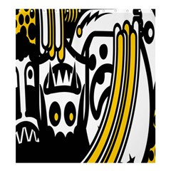 Easter Monster Sinister Happy Magic Rock Mask Face Polka Yellow Shower Curtain 66  X 72  (large)  by Mariart