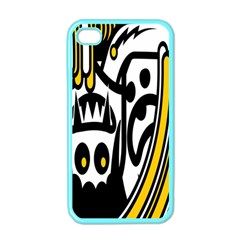 Easter Monster Sinister Happy Magic Rock Mask Face Polka Yellow Apple Iphone 4 Case (color) by Mariart