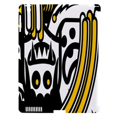 Easter Monster Sinister Happy Magic Rock Mask Face Polka Yellow Apple Ipad 3/4 Hardshell Case (compatible With Smart Cover) by Mariart