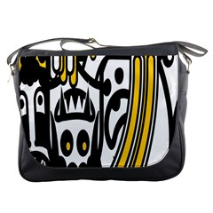 Easter Monster Sinister Happy Magic Rock Mask Face Polka Yellow Messenger Bags by Mariart