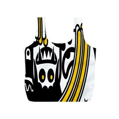 Easter Monster Sinister Happy Magic Rock Mask Face Polka Yellow Full Print Recycle Bags (s)