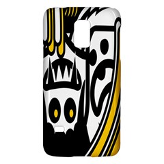Easter Monster Sinister Happy Magic Rock Mask Face Polka Yellow Galaxy S5 Mini by Mariart