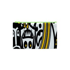 Easter Monster Sinister Happy Magic Rock Mask Face Polka Yellow Cosmetic Bag (xs) by Mariart