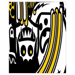 Easter Monster Sinister Happy Magic Rock Mask Face Polka Yellow Drawstring Bag (small) by Mariart