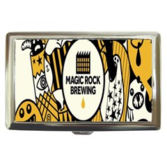 Easter Monster Sinister Happy Magic Rock Mask Face Yellow Magic Rock Cigarette Money Cases by Mariart