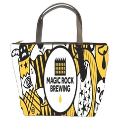 Easter Monster Sinister Happy Magic Rock Mask Face Yellow Magic Rock Bucket Bags by Mariart