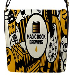 Easter Monster Sinister Happy Magic Rock Mask Face Yellow Magic Rock Flap Messenger Bag (s) by Mariart