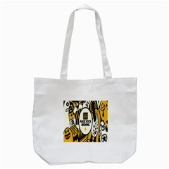 Easter Monster Sinister Happy Magic Rock Mask Face Yellow Magic Rock Tote Bag (white) by Mariart