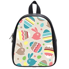 Easter Rabbit Bunny Rainbow School Bags (small)  by Mariart