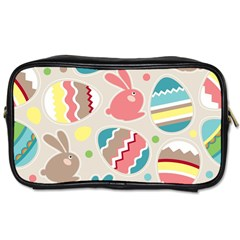 Easter Rabbit Bunny Rainbow Toiletries Bags 2 Side by Mariart