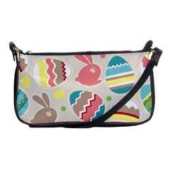 Easter Rabbit Bunny Rainbow Shoulder Clutch Bags by Mariart