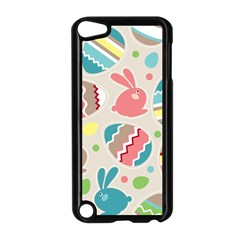 Easter Rabbit Bunny Rainbow Apple Ipod Touch 5 Case (black) by Mariart