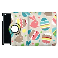 Easter Rabbit Bunny Rainbow Apple Ipad 2 Flip 360 Case by Mariart