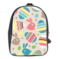 Easter Rabbit Bunny Rainbow School Bags (xl)  by Mariart