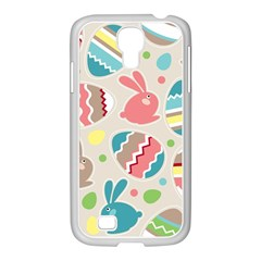 Easter Rabbit Bunny Rainbow Samsung Galaxy S4 I9500/ I9505 Case (white) by Mariart