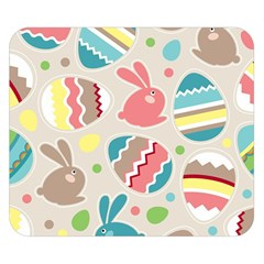 Easter Rabbit Bunny Rainbow Double Sided Flano Blanket (small)  by Mariart