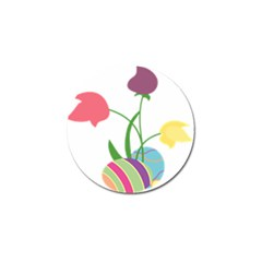 Eggs Three Tulips Flower Floral Rainbow Golf Ball Marker (10 Pack) by Mariart