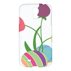 Eggs Three Tulips Flower Floral Rainbow Samsung Galaxy S4 I9500/i9505 Hardshell Case by Mariart