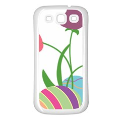 Eggs Three Tulips Flower Floral Rainbow Samsung Galaxy S3 Back Case (white) by Mariart