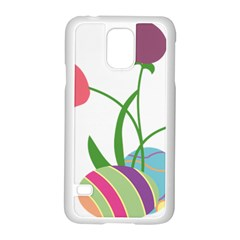 Eggs Three Tulips Flower Floral Rainbow Samsung Galaxy S5 Case (white) by Mariart