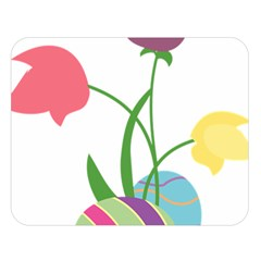 Eggs Three Tulips Flower Floral Rainbow Double Sided Flano Blanket (large)  by Mariart