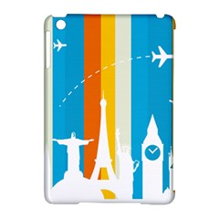 Eiffel Tower Monument Statue Of Liberty Apple Ipad Mini Hardshell Case (compatible With Smart Cover) by Mariart