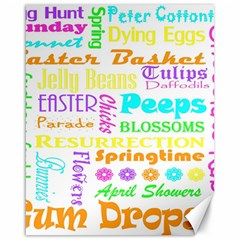 Easter Subway Blossoms Color Rainbow Chocolate Canvas 16  X 20   by Mariart