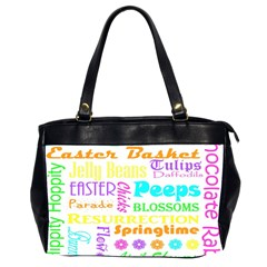 Easter Subway Blossoms Color Rainbow Chocolate Office Handbags (2 Sides)  by Mariart