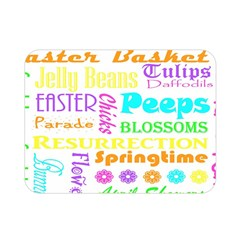 Easter Subway Blossoms Color Rainbow Chocolate Double Sided Flano Blanket (mini)  by Mariart