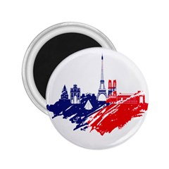 Eiffel Tower Monument Statue Of Liberty France England Red Blue 2 25  Magnets by Mariart