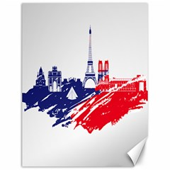 Eiffel Tower Monument Statue Of Liberty France England Red Blue Canvas 12  X 16   by Mariart