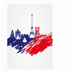 Eiffel Tower Monument Statue Of Liberty France England Red Blue Small Garden Flag (two Sides) by Mariart