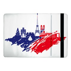Eiffel Tower Monument Statue Of Liberty France England Red Blue Samsung Galaxy Tab Pro 10 1  Flip Case by Mariart
