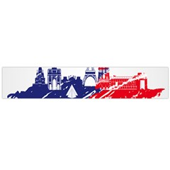 Eiffel Tower Monument Statue Of Liberty France England Red Blue Flano Scarf (large) by Mariart