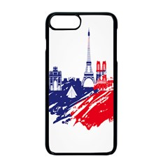 Eiffel Tower Monument Statue Of Liberty France England Red Blue Apple Iphone 7 Plus Seamless Case (black) by Mariart