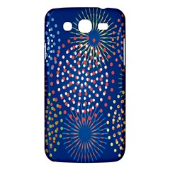 Fireworks Party Blue Fire Happy Samsung Galaxy Mega 5 8 I9152 Hardshell Case  by Mariart