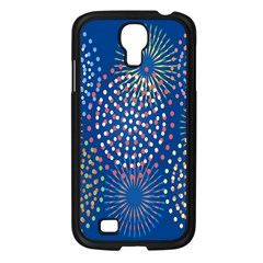 Fireworks Party Blue Fire Happy Samsung Galaxy S4 I9500/ I9505 Case (black) by Mariart