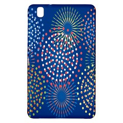 Fireworks Party Blue Fire Happy Samsung Galaxy Tab Pro 8 4 Hardshell Case by Mariart