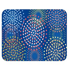 Fireworks Party Blue Fire Happy Double Sided Flano Blanket (medium)  by Mariart