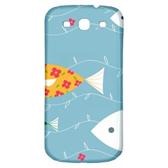 Fish Cute Swim Blue Sea Samsung Galaxy S3 S Iii Classic Hardshell Back Case by Mariart