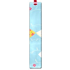Fish Cute Swim Blue Sea Large Book Marks by Mariart