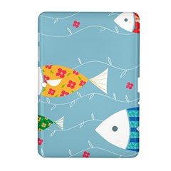 Fish Cute Swim Blue Sea Samsung Galaxy Tab 2 (10 1 ) P5100 Hardshell Case  by Mariart