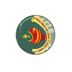 Fish Predator Sea Water Beach Monster Hat Clip Ball Marker (4 Pack) by Mariart